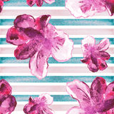 Watercolor background.The seamless exotic background  Stock Image