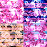 Watercolor background.The seamless exotic background  Stock Photo