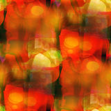 Watercolor background seamless yellow, red Royalty Free Stock Image
