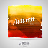 Watercolor background. Seasons. Autumn Royalty Free Stock Images