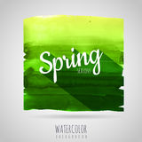 Watercolor background. Seasons. Spring Stock Image