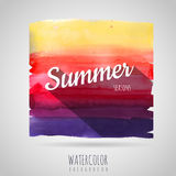 Watercolor  background. Seasons. Summer Stock Photo
