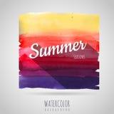 Watercolor  background. Seasons. Summer Stock Photo
