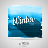 Watercolor background. Seasons. winter Royalty Free Stock Photos