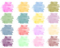 Watercolor background set in bright colors Stock Images