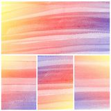 Watercolor Background. Set of colorful yellow water color Royalty Free Stock Photography