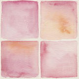 Watercolor background. Set of square backgrounds in pink bright colors Stock Images