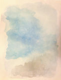 Watercolor background. Shades of cloudy sky. Royalty Free Stock Photos