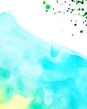 Watercolor background with splashes Royalty Free Stock Photography