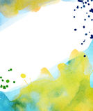 Watercolor background with splashes Royalty Free Stock Images