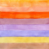 Watercolor background with striped pattern Royalty Free Stock Images