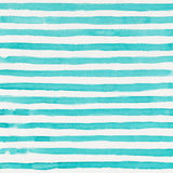 Watercolor background. Watercolor striped teal and white background Royalty Free Stock Photo