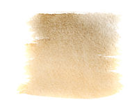 Watercolor background umber. Umber watercolor background. The gradient color transition from a saturated to light umber. Design elements. Painting. Grunge Stock Image