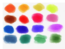 Watercolor background. Various colors painted stains background Royalty Free Illustration