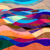 Watercolor background with waves Royalty Free Stock Image