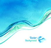 Watercolor background with waves Royalty Free Stock Photography