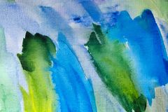 Watercolor background wet. Blue abstract background art wallpaper paper stock image