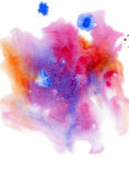 Watercolor background on white paper Stock Photography