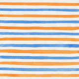 Watercolor background. Watercolor yellow and blue striped background Stock Photo