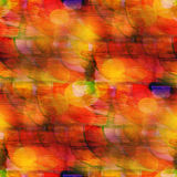 Watercolor background yellow, red seamless Stock Images