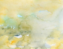Watercolor background yellow Royalty Free Stock Images