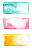 Watercolor 3 backgrounds Royalty Free Stock Images