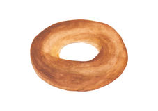 Watercolor bagel pastry bakery breakfast food illustration , is Royalty Free Stock Photography