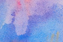 Watercolor bakground. Grungy watercolor painted blue background Stock Images