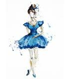 Watercolor Ballerina Στοκ Φωτογραφίες