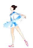 Watercolor ballerina dancing Stock Photos