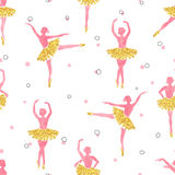 Watercolor ballerinas pattern Royalty Free Stock Photo