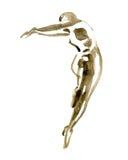 Watercolor ballet pose. ballerina in dance. Royalty Free Stock Photos