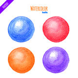 Watercolor balls Stock Photos