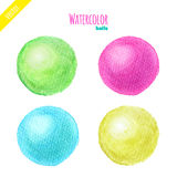 Watercolor balls Stock Image
