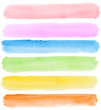 Watercolor Banners Stock Image