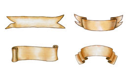 Watercolor banners. Assorted watercolor banners. Digital illustration Royalty Free Stock Image