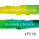 Watercolor banners design Stock Images