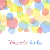 Watercolor banners Stock Images