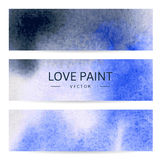 3 watercolor banners. 3 horizontal watercolor banners made with trace Stock Photography