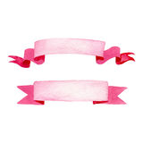Watercolor Banners. Illustration of Pink Watercolor Banners Royalty Free Stock Photo