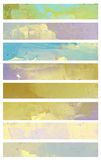 Watercolor banners Royalty Free Stock Photo