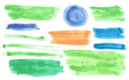 Watercolor banners set Royalty Free Stock Image