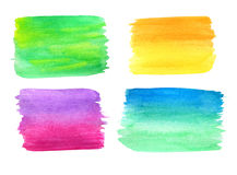 Watercolor banners set Stock Photography