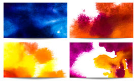 Watercolor banners. Vector illustration of Watercolor banners Royalty Free Stock Images