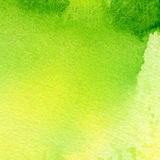 Watercolor bckground. Abstract hand painted watercolor background. Soft green and yellow tint Stock Photo