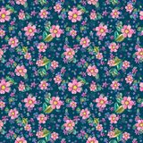 Watercolor beautiful floral design, seamless pattern Royalty Free Stock Image
