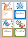 Watercolor beautiful gift cards collection Royalty Free Stock Photography