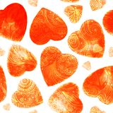 Watercolor beautiful hearts illustration Royalty Free Stock Images