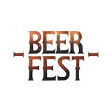 Watercolor beer fest. Beer fest. Watercolor phrase in vintage style  on white background Stock Photo