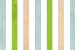 Watercolor beige, green and blue striped background. Abstract watercolor background with beige, green and blue stripes vector illustration